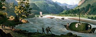 Linthkanal als Wasserweg zwischen Zürich und Walensee