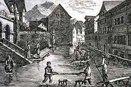 Hochwasser in der Linthebene