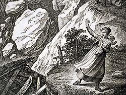 Zeichnung Bergsturz von Goldau